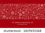 christmas background  seamless... | Shutterstock .eps vector #1829652368