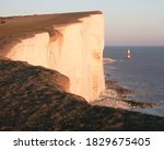 Chalk Cliff At Beachy Head With ...