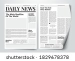 vector illustration daily news... | Shutterstock .eps vector #1829678378