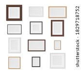 pictures frames variety on wall ...   Shutterstock .eps vector #1829718752