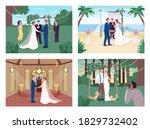 religious and civil wedding...   Shutterstock .eps vector #1829732402