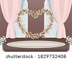 wedding hall photozone flat... | Shutterstock .eps vector #1829732408