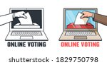 online voting in elections   a... | Shutterstock .eps vector #1829750798
