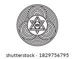 all seeing eye of god in sacred ... | Shutterstock .eps vector #1829756795