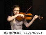 Beautiful Violist Girl Playing...