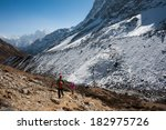 trekking in everest region ... | Shutterstock . vector #182975726