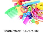 colorful comb barrette and... | Shutterstock . vector #182976782