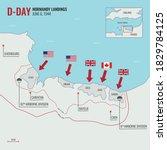 d day landing   operation... | Shutterstock .eps vector #1829784125