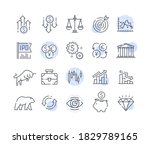 a simple set of stock and... | Shutterstock .eps vector #1829789165