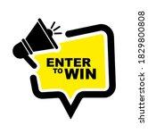 enter to win sign on white... | Shutterstock .eps vector #1829800808