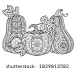 coloring book for adults.... | Shutterstock .eps vector #1829813582