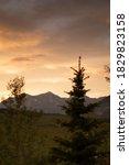 A Warm Sunset Light Provides A...