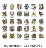 set of money management thin... | Shutterstock .eps vector #1829824052