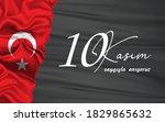 10 kasim november 10 death day...   Shutterstock .eps vector #1829865632