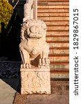 Lion Statue In Nan Tien...
