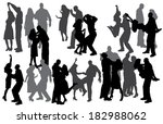 vector silhouette of a people... | Shutterstock .eps vector #182988062