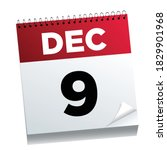 december 9th on a calendar page ...   Shutterstock .eps vector #1829901968