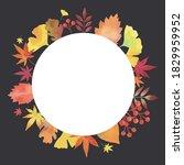 autumn leaves. decorative frame....   Shutterstock .eps vector #1829959952