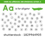 find and color all letters a.... | Shutterstock .eps vector #1829964905