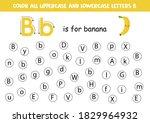 dot or color letter b. alphabet ... | Shutterstock .eps vector #1829964932