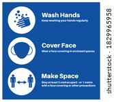 hands space face covid 19... | Shutterstock .eps vector #1829965958