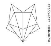 abstract linear polygonal head... | Shutterstock .eps vector #1829977388