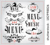 vector set calligraphic design... | Shutterstock .eps vector #182998826