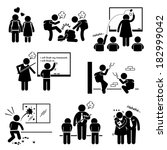 school education social problem ... | Shutterstock .eps vector #182999042