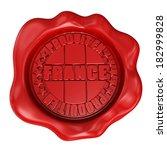 3d render wax seal with produit ... | Shutterstock . vector #182999828