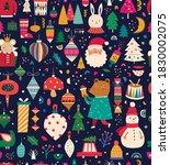 vintage christmas vector... | Shutterstock .eps vector #1830002075