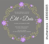 wedding invitation | Shutterstock .eps vector #183003005
