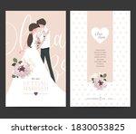 wedding invitation design.... | Shutterstock .eps vector #1830053825