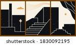 creative cartoon posters.... | Shutterstock .eps vector #1830092195