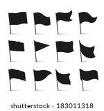 black flag icons | Shutterstock .eps vector #183011318
