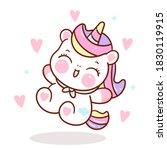 cute unicorn vector with heart... | Shutterstock .eps vector #1830119915