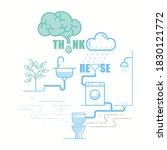 household water reuse system... | Shutterstock .eps vector #1830121772