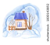 watercolor drawing of a small... | Shutterstock . vector #1830143852