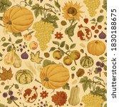 happy autumn. harvest. autumn... | Shutterstock .eps vector #1830188675