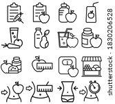 diet icon vector set. proper... | Shutterstock .eps vector #1830206528
