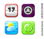 set abstract collection icons... | Shutterstock .eps vector #1830222848