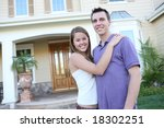 a young couple in love in front ... | Shutterstock . vector #18302251