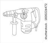 icon rotary hammer. logo rotary ...
