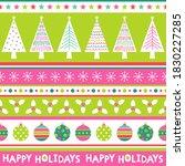 cute christmas elements... | Shutterstock .eps vector #1830227285