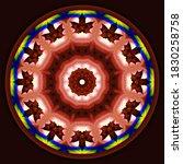 Autumn Decorative Mandala With...