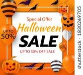 sale banner for happy halloween ... | Shutterstock .eps vector #1830269705