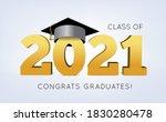 graduation class of 2021 with... | Shutterstock . vector #1830280478