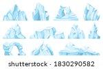 Cartoon Iceberg. Drifting...