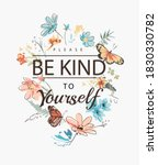 be kind to yourself slogan with ... | Shutterstock .eps vector #1830330782