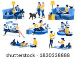 female and male characters... | Shutterstock .eps vector #1830338888