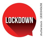 corona virus lockdown sign red... | Shutterstock .eps vector #1830340658